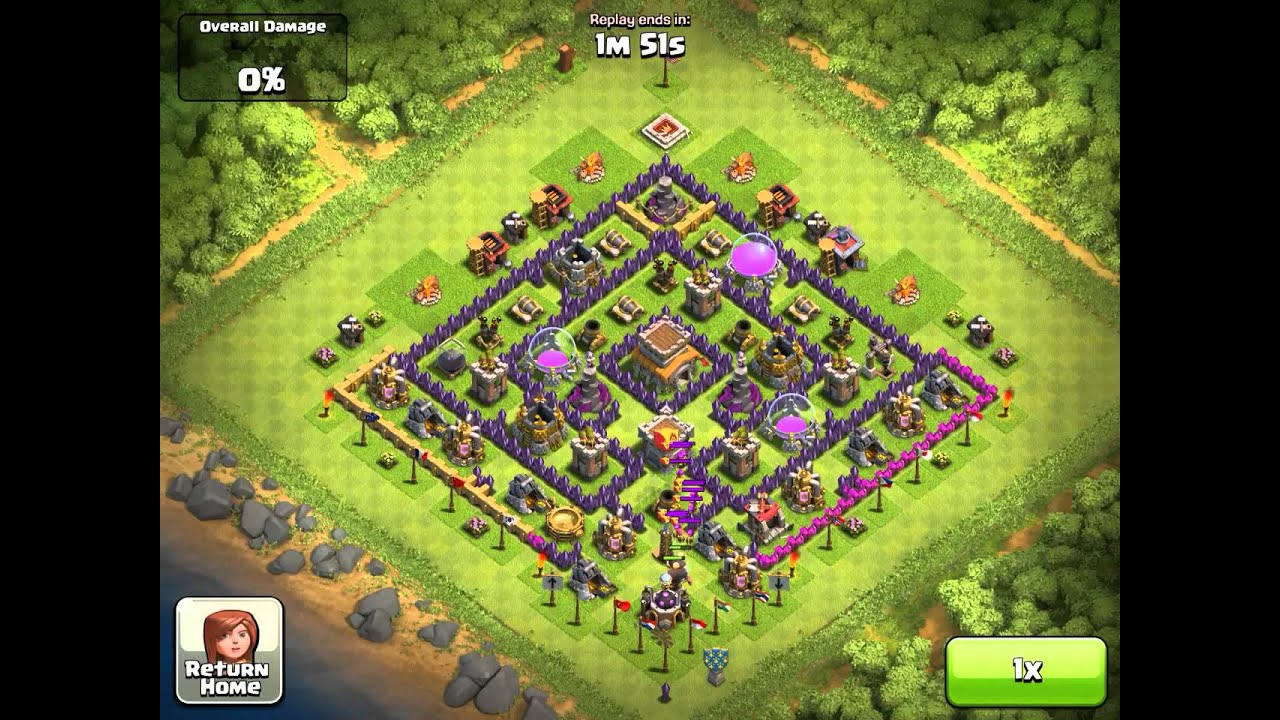 Clash of Clans Town Hall 8 Defense
