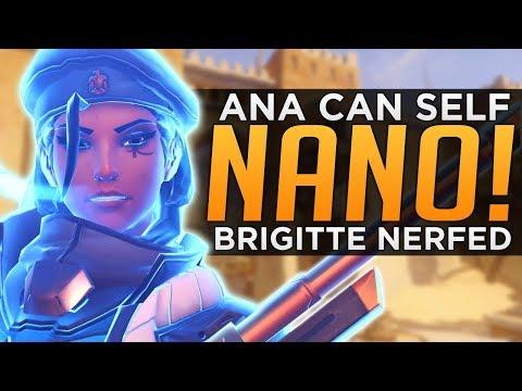 Overwatch: Brigitte NERFED Again! - Ana Self Nano BUFF!