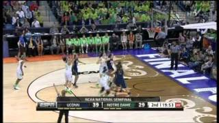 2013 NCAA Women's Basketball Championship. Semifinal. Connecticut vs. Notre Dame