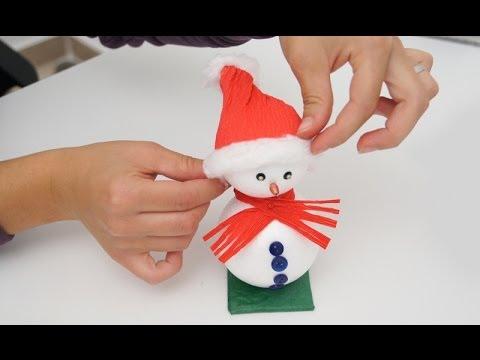 Lavoretto di natale come realizzare un pupazzo di neve for Cose semplici da costruire