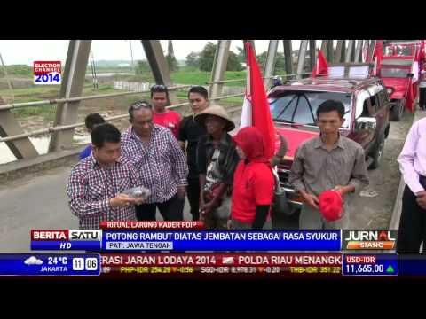 Jokowi Capres, Simpatisan PDIP Cukur Rambut