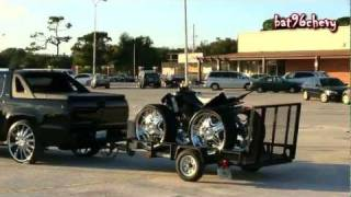 Chevy Avalanche Truck On 28's Towing A 4 Wheeler On 26's