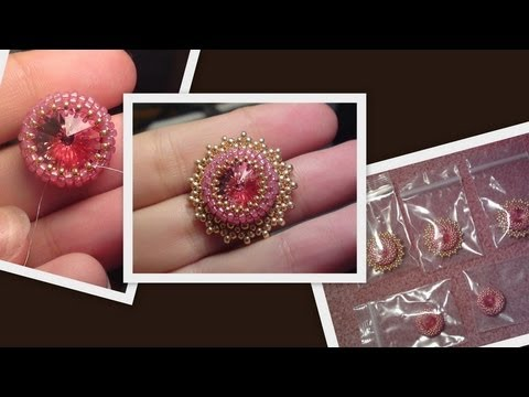Iceflower bracelet with Swarovski rivoli part 1 Beading Tutorial by HoneyBeads