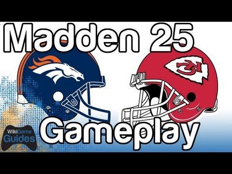 Madden 25 Gameplay Broncos vs Chiefs Payton Manning vs Alex Smith Denver vs Kansas City