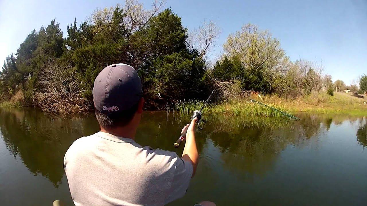 Gopro Bass Fishing April 2013 Oklahoma Farm Pond Deeyung Entertainment Youtube