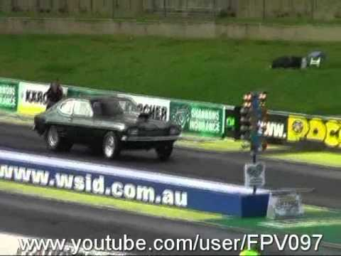WHEELSTANDS - CLOSE CALLS - DRAG RACING CRASHES - BURNOUT FIRES ETC AT SYDNEY DRAGWAY