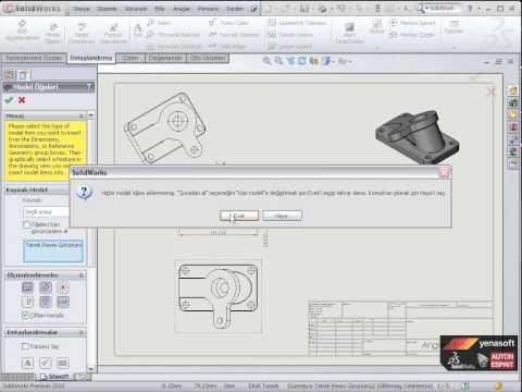 SolidWorks Teknik Resim Oluşturma -1