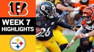 Bengals vs. Steelers | NFL Week 7 Game Highlights