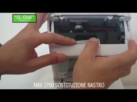 Marcatempo e timbracartellino Max 2700 sostituzione cartuccia nastro bicolore