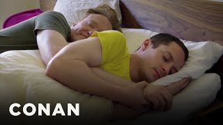 Elijah Wood on Spooning With Conan O'Brien