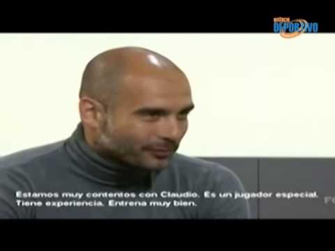 Pep Guardiola habla de la renovación de Claudio Pizarro.