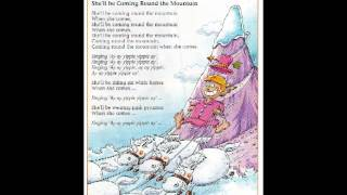 Coming round the mountain song with lyrics, Song for children