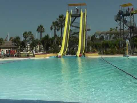 Aquopolis Waterpark, La Pineda, Salou, Spain June 2009 - YouTube