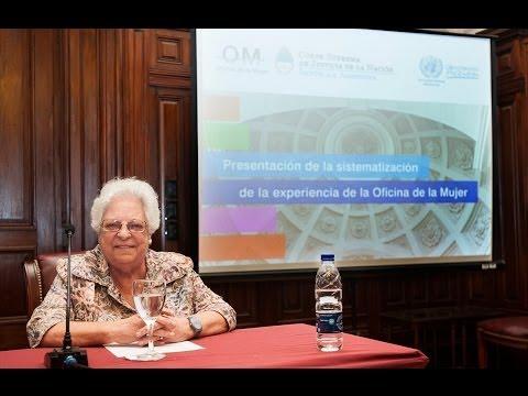 Argibay present� el modelo de gesti�n de la Oficina de la Mujer de la Corte