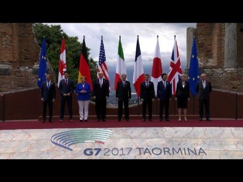Sommet du G7: photo de famille