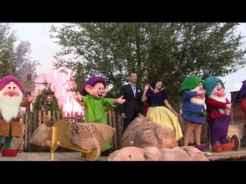 Seven Dwarfs Mine Train dedication ceremony at Walt Disney World