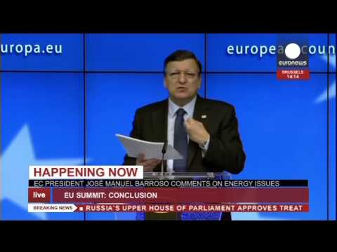 EU press conference: Ukraine deal signed, expanded sanctions against Russia (recorded live feed)