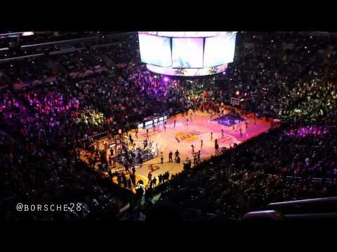 Kobe's Return - Lakers vs Raptors 12/8/13 (warmups, player introductions & first point)