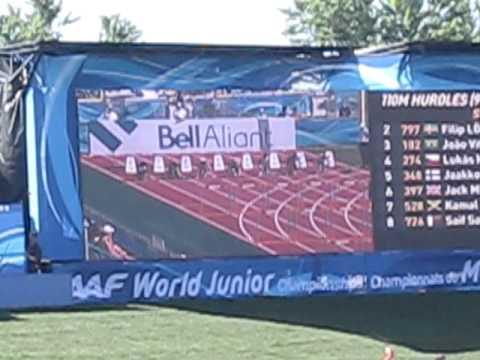 João Vitor 110 c/b - Campeonato Mundial de Atletismo Juv. 2010 - Canadá.