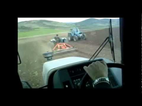 Lamborghini R5.130 & 2 Landini 10000s & 8500 in power harrowing