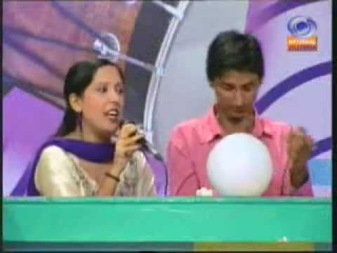 sulekha and mandeep (at the jalandhar doordarshan in antakshri program)