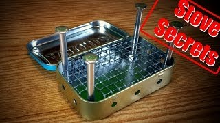 How To Make A Mini Wood Stove Easy & Effective!