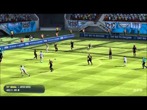 2014 FIFA World Cup Brazil - Argentina vs Belgium Gameplay [HD]