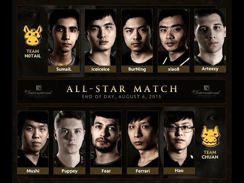 MOST EPIC 10vs10 ALL-STAR MATCH in Dota 2 HISTORY #TI5