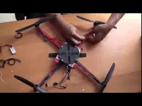 Quadcopter Assembly - DIY - Home Made