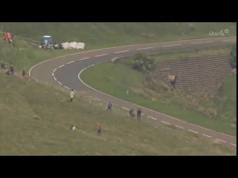 William Dunlops Lowside Crash Followed by Conor Cumminss Quick Reaction IOM TT 2014
