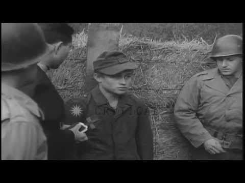 German spy Josef Wende is executed by U.S. Military Police firing squad  in Toul,...HD Stock Footage