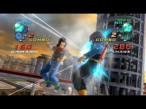 Dragon Ball Z Ultimate Tenkaichi - PS3 / X360 - Trunks vs C-17 Gameplay Video