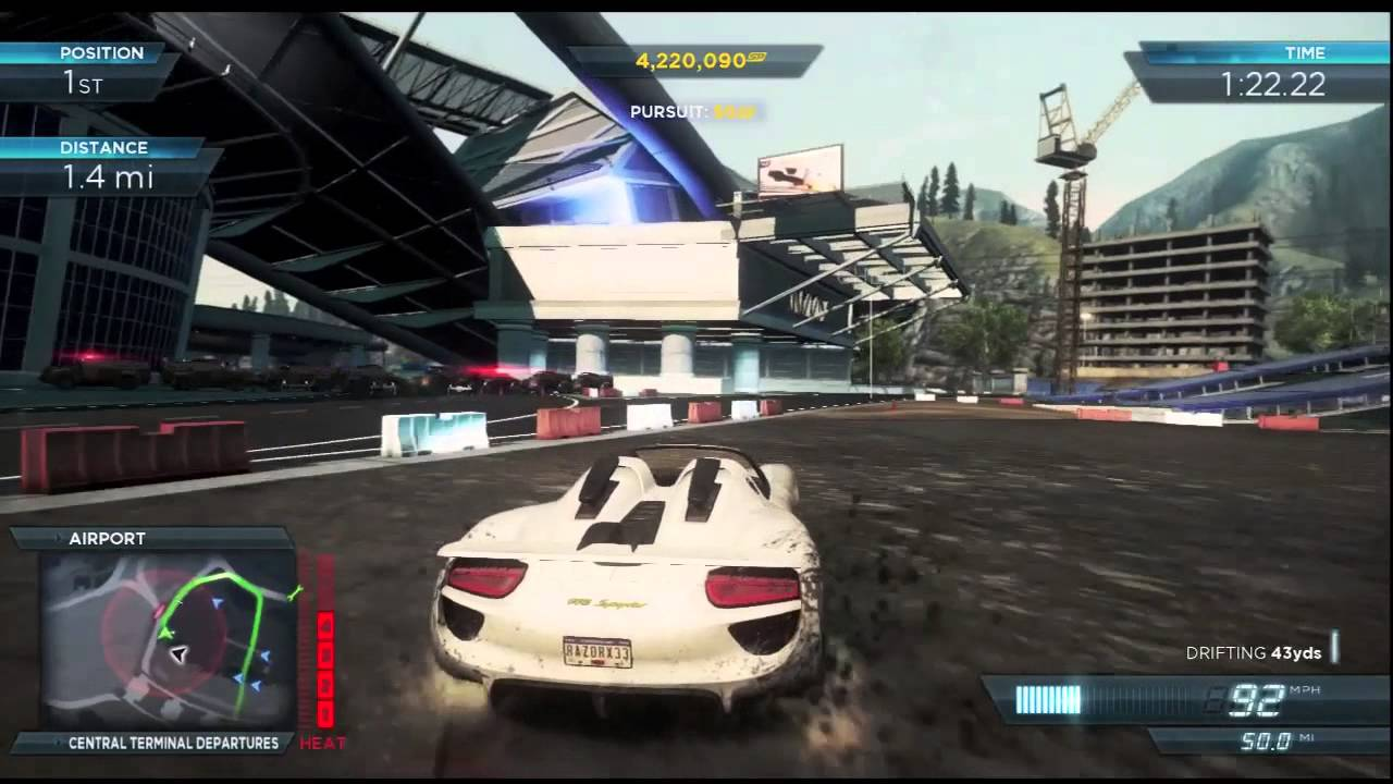 need for speed most wanted 2012 xbox 360 most wanted racer 3 porsche 918 spyder youtube. Black Bedroom Furniture Sets. Home Design Ideas