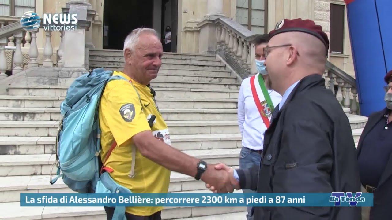 News vittoriesi - La sfida di Alessandro Bellière: percorrere 2300 km a piedi a 87 anni