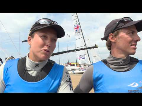 Interview Nathalie Brugger ISAF World Cup Weymouth (French)