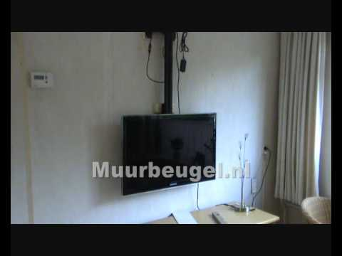 Electrische plafondlift youtube for Plafond beugel tv