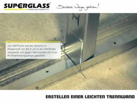Superglass - Erstellen einer leichten Trennwand