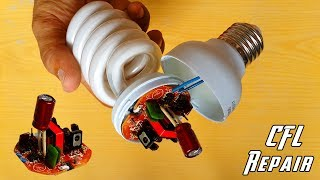 How to Repair CFL Bulb at Home || Repair Compact Fluorescent Light bulbs || DIY CFL Repair