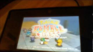 How To Delete A Pokemon Rumble Blast Save File On The 3DS