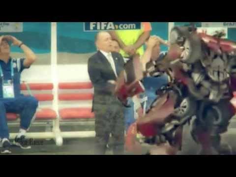 Argentina Coach Alejandro Sabella blooper fall - Transformer memes