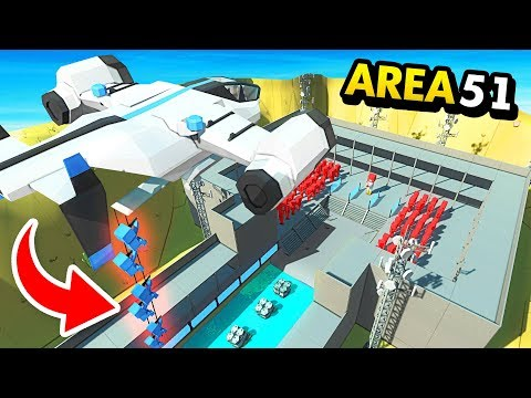 NEW SECRETLY Dropping Units Into AREA 51 RAID (Funny Ancient Warfare 3 Gameplay)