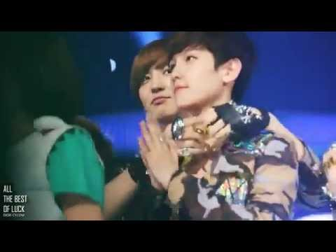 120514 EXO-K (Baekhyun,Chanyeol) Super Cute [Fancam] @Show Champions