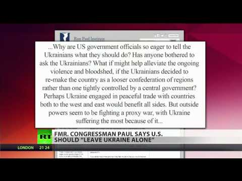 Ron Paul: US is pushing its own agenda in Ukraine