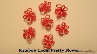 How To Make Pretty Flowers On Rainbow Loom