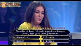 Kim Milyoner Olmak Ister 255. bölüm Melis Tetik 30.07.2013