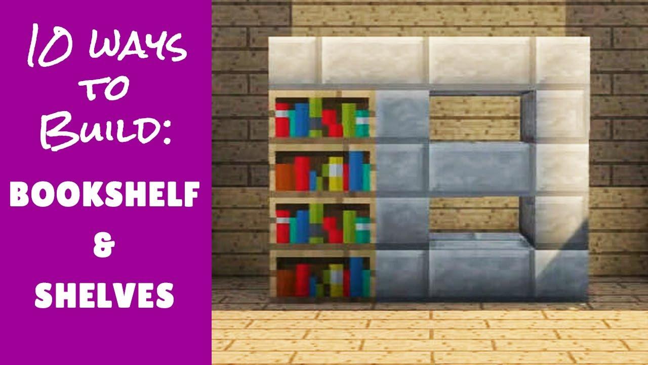 Minecraft Furniture Bookshelf Designs and Tips
