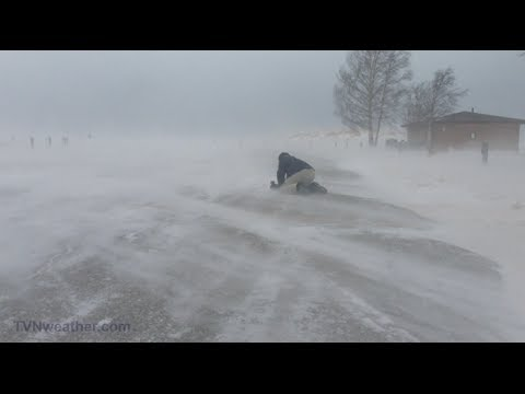 Extreme blizzard chasing!  TVN intercepting the