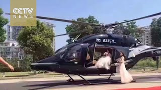 Helicopter wedding leads to traffic jam -Exclusive visuals