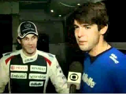 Bruno Senna and Kaka in Jerez