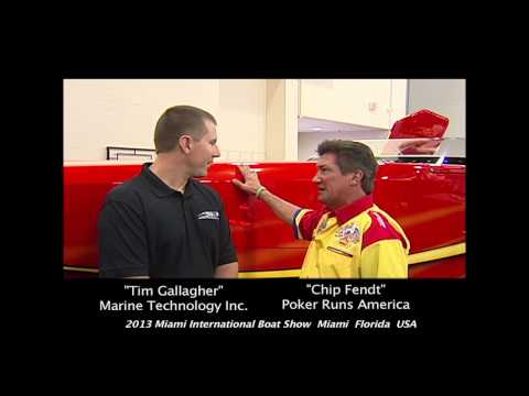 Poker Runs America - 2013 Miami International Boat Show - Tim Gallagher of MTI & Black Diamond